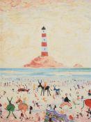 λ Simeon Stafford (British b. 1956), Lighthouse and donkey rides