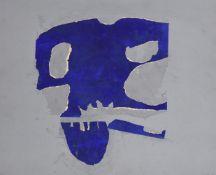 λ Trevor Bell (British 1920-2017), Blue skull form