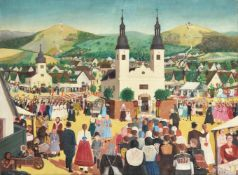 János Gajdos (Hungarian 1912-1950), Village scene