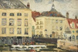 Richard Hayley Lever (American 1876-1958), Canal in Bruges