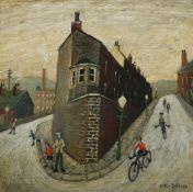 λ Arthur Delaney (British 1927-1987), Free Wheelers at Hebden Bridge