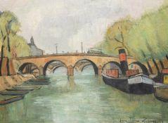 λ Jean-Pierre Zingg (French b. 1925), Tugboats on the Seine
