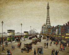λ Arthur Delaney (British 1927-1987), The Golden Mile and the Tower, Blackpool