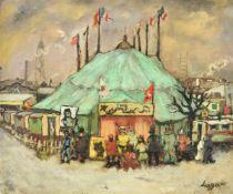 λ Celso Lagar (Spanish 1891-1966), Circus tent