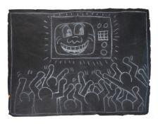 Keith Haring (American 1958-1990), Subway drawing