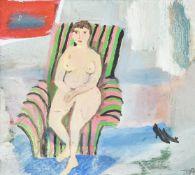 λ Tessa Newcomb (British b. 1955), Model with abstract