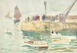 Richard Hayley Lever (American 1876-1958), Pier at St. Ives