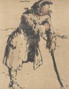 William Nicholson (British 1872-1949), John Silver; Miss Havisham (from Characters of Romance)