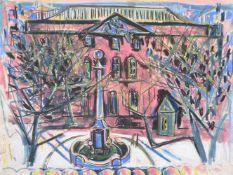 λ Jeanne Laillard (French 1897-1982), Pink town hall