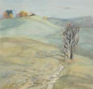 Emilie Mediz-Pelikan (Austrian 1861-1908), Landscape with tree