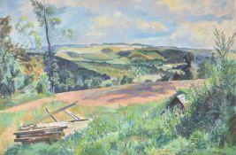λ Gilbert Spencer (British 1892-1979), Summer landscape