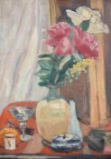 Jacqueline Marval (French 1866-1932)Still life with roses in a vase