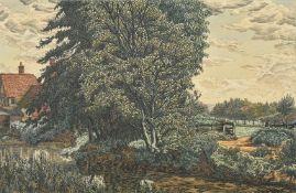 λ Charles Ginner (British 1878-1952), Country landscape