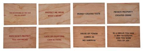 Jenny Holzer (American b.1950), Truisms (Set of 8)