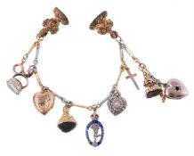 A two colour charm bracelet