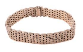 A 1960s 9 carat gold textured link bracelet