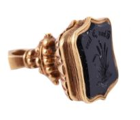 An early Victorian gold and onyx seal