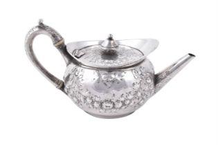 Y A George III silver circular tea pot by Paul Storr