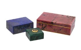 A rhodonite rectangular box and cover