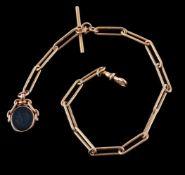 An 18 carat gold Albert chain
