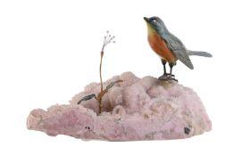 An Italian diamond set bird ornament