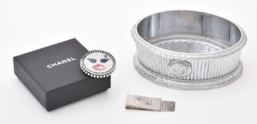 Chanel, a plastic and paste brooch