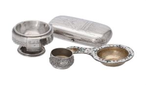 Four items of Russian silver