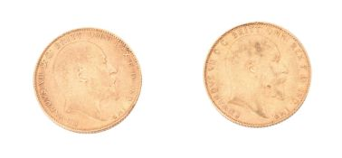 Edward VII, Sovereigns (2)