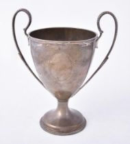 A George III silver twin handled trophy cup