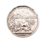 Jacobite, Prince James (III), The Old Pretender 1721, silver medal by Otto Hamerani