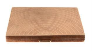 A 9 carat gold rectangular cigarette case by Cohen & Charles