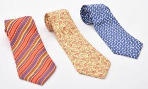 Hermes, six silk ties