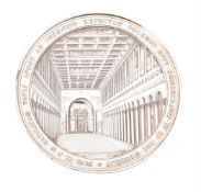 Papal States, Pius IX, Re-consecration of St. Paul Outside the Walls 1854, large silver medal by L.