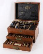 Harold Richardson Leeds- an early 20th century mahogany Homeopathy apothecary box