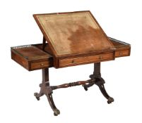 Y A Regency rosewood and simulated rosewood table