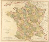 Cartography; France Divided into Metropolitan Circles