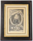 A set of four monochrome engravings of kings and nobility after George Vertue