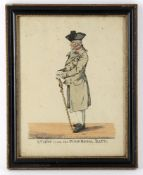 A group of ten 19th century hand coloured portrait/satirical prints - mostly military related