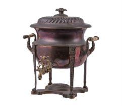 Y A George IV oval copper samovar