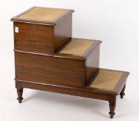 A 19th century mahogany step commode