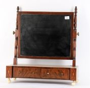 Y A Regency mahogany and boxwood strung dressing table mirror