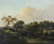 British School (19th century), 'Stalking ducks'