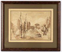 19th century English School 'Hop Garden Pembury October 1882'- 3 sketches