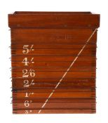 A late Victorian mahogany coin sorting machine