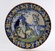 A 19th century Italian maiolica dished plate