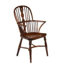 Marsh of Sleaford- an early 19th Century yew and elm Windsor armchair