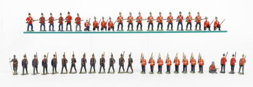 Britains from various sets including: Prussian Infantry of the Line