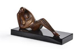 λ Stephen Broadbent (British b.1961) a bronze reclining figure