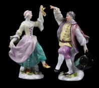 Two small Meissen figures of dancers