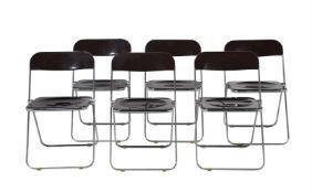 A set of six 'Plia' Devisione Sedie Castelli chairs